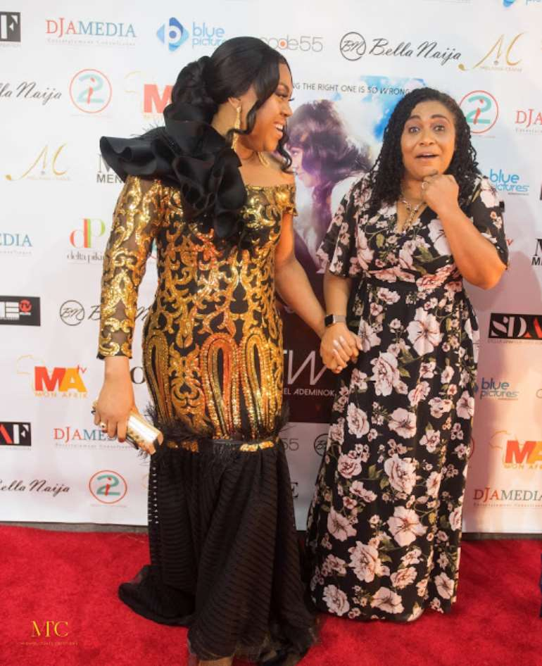 Stella with Hilda Dokubo
