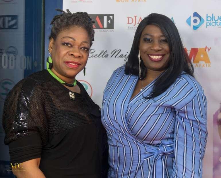 Lola Awosika (R) with friend