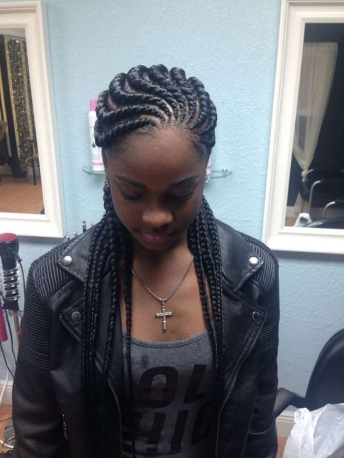 Ghana Braids Are Also Known As Invisible Cornrows Banana Pencil And Cherokee 3 Styles