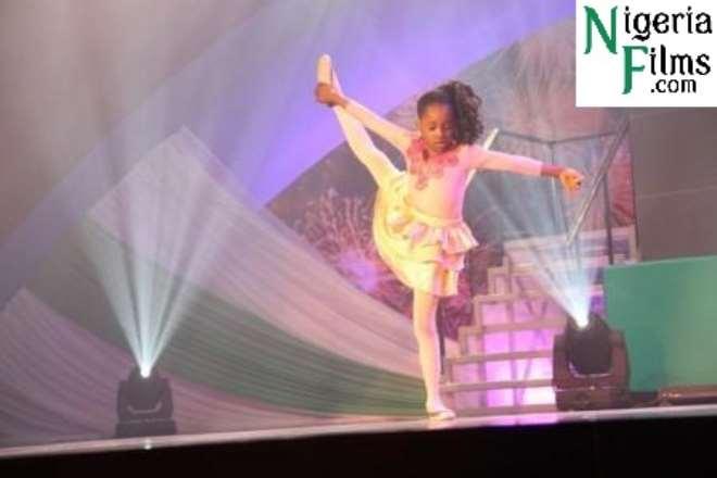 Amarachi Uyanne displaying her ballet skills