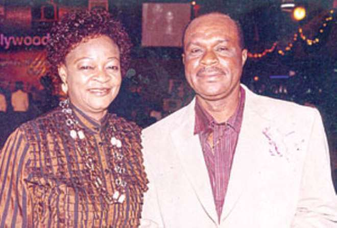 Late actor Ashley Nwosu and his loving wife, Grace