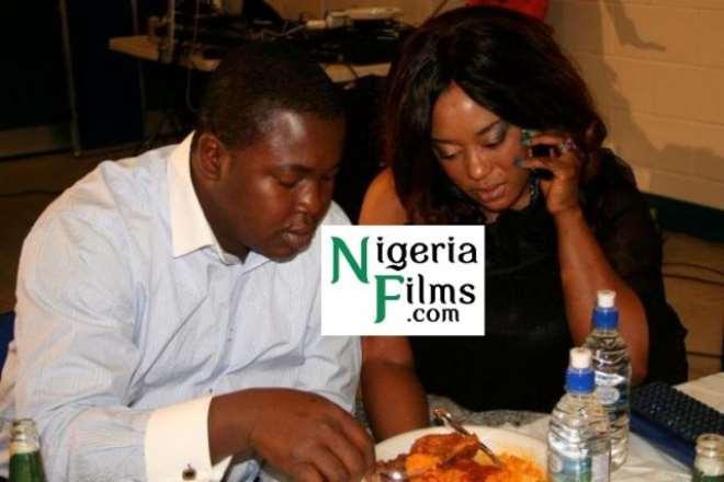 Baba Tee with wife, Yetunde Oduwole