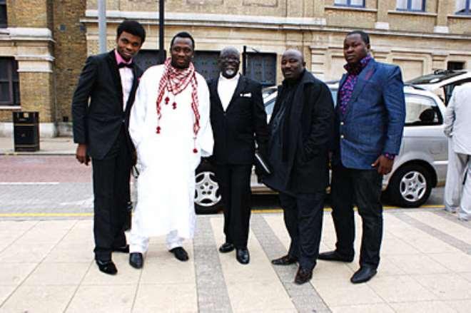 OMO-BABA, TAYO ADELEYE,TUNJI BAMISIBGIN,LONDONER & BABA TEE IN THE UK AT THE AFRO-HOLLYWOOD AWARD 2011