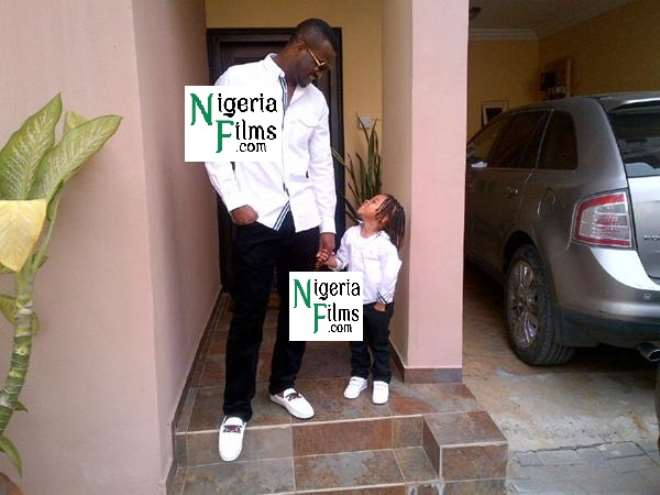 Peter Of P-Square Steps Out With Son, Cameron