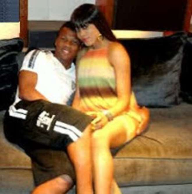 Ikechukwu Uche and Ruth Okoro at her home in the US.