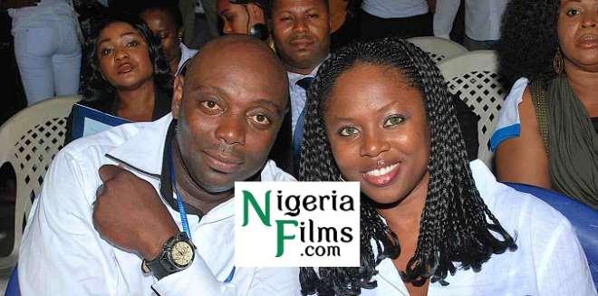 Segun Arinze and his wife