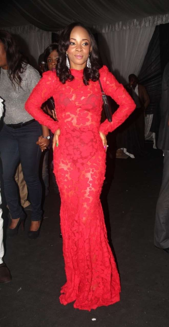 <b>TOKE MAKINWA</b>  First up we have radio personality, Toke Makinwa! With her dark long locks, flawless makeup and demure style she reminds me of a life size Barbie doll. Or rather the more exotic version of Barbie. Every time she steps out on the red