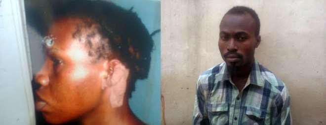 Victim, Mrs Onyekaa Uzoamaka and Tunde Ajibike-Suspect