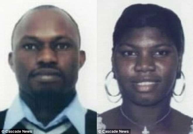 <b>Fraud: Ovo Mayomi, 44, left, claimed he was earning £700 a month and living in Croydon, south London. His wife Juliet Ubiribo, 32, right, told benefit bosses she was a single mother and a victim of domestic violence</b>