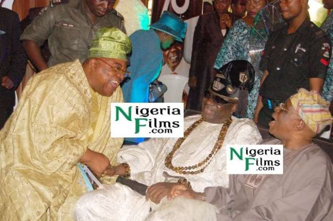 L-R: Former Governor of Oyo state Christopher Alao Akala, Oba of Lagos, Rilwan and former Governor of Ogun state. and the chairman of the occasion, Segun Osoba.jpg