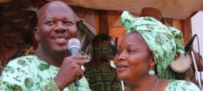 Baba Suwe and late wife, Omoladu