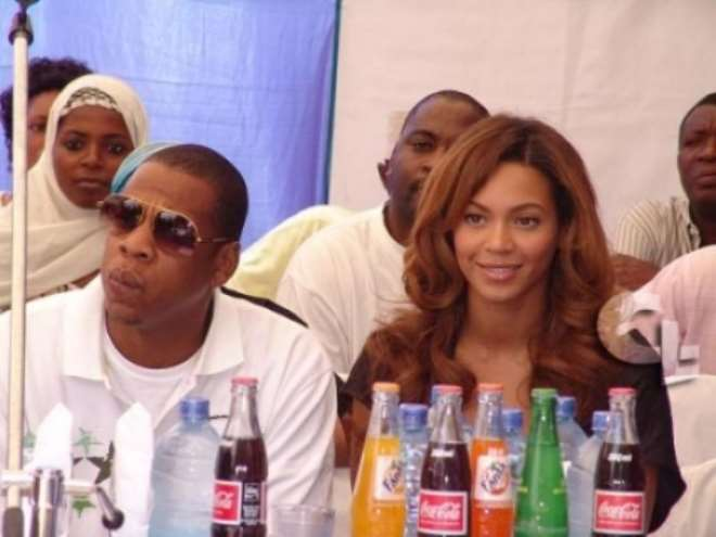 Beyonce and Jayzee in Nigeria in October 2006