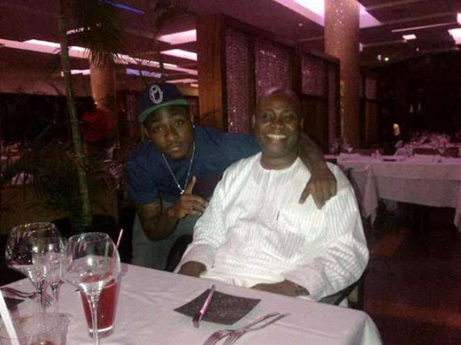 Davido with dad