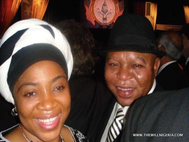 Abubakar Audu and Wife, Aisha, at an Inauguration dinner for US President Barack Obama in Washington DC