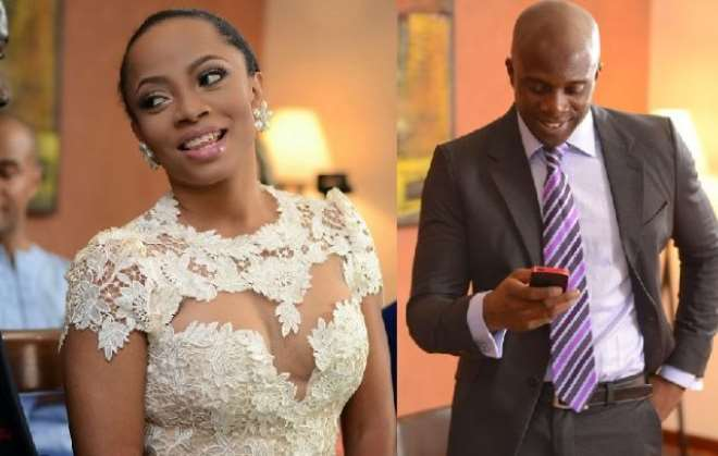 toke makinwa and husband, Maje