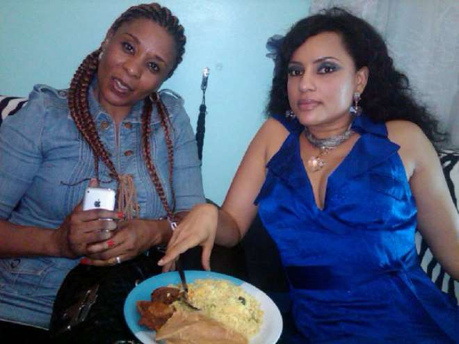 Tricia Esiegbe and her colleague Lilian Bach