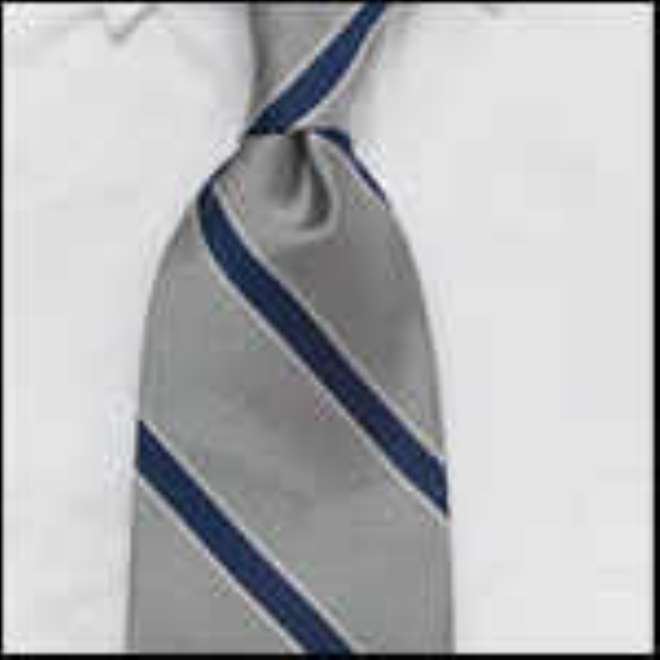 3- Vary weights between patterns</p><p>Choosing two patterns of the same size will just look too busy and confusing, so for a cleaner look that's easier on the eyes, make sure one piece has a chunkier pattern than the other. This classic J.Crew shirt has thin gray and white stripes, while the silk tie is set on a gray background with slim white stripes, as well as much larger, notice-me blue stripes. The combination works by giving a subdued dress shirt just the right boost with a brighter, bolder striped tie, thereby breaking up the monotony of the shirt..jpg