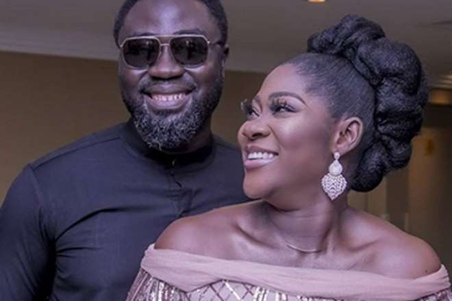 Mercy Johnson with her husband, Prince Okojie