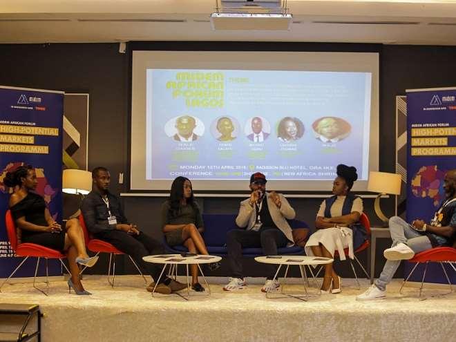 L-R Laverine Thomas, Wale Davies, Yemisi Falaye, Michael Ugwu, Waje Iruobe and Nosa Dag Aghayere