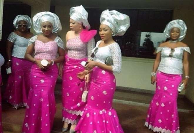 Tonto Dikeh Ini EdoMonalisa ChindaEbube Nwagbo At Moses Inwangs Wedding In Uyo Pictures