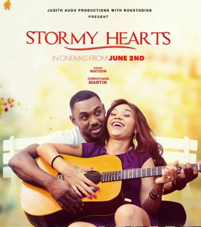 Image result for Judith Audu releases trailer, poster for 'Stormy Hearts'
