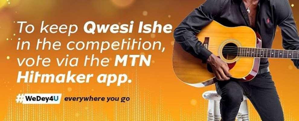 Mtn Hitmaker Contestant Qwesi Ishe, Wins The Heart Of Ghanaian Artistes