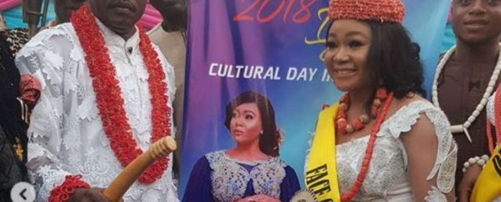 Nollywood Actress, Rechael Okonkwo Conferred With Chieftaincy Title
