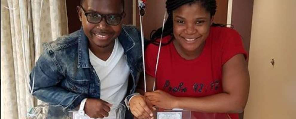 Comedian, Teju Babyface Welcomes Twins After 6years Of Waiting