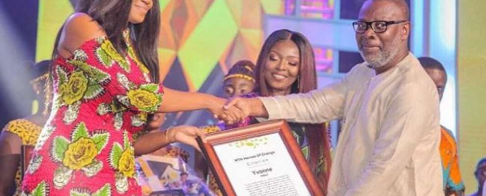 Actress, Yvonne Nelson Honoured With Mtn Hero Of Change Award