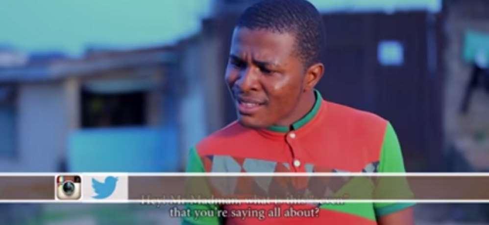 Actor, Samuel Ajibola Confronts Mad Man