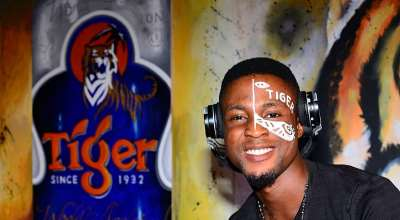 Noble Igwe, ShowDemCamp, Teddy A and Waye Uncage Tiger's New 33cl Sleek Can