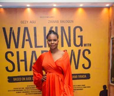 actor zainab balogun at walking with shadows movie premiere