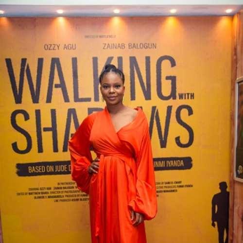 actor zainab balogun at walking with shadows movie premiere