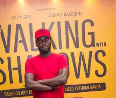 actor john njamah at walking with shadows movie premiere