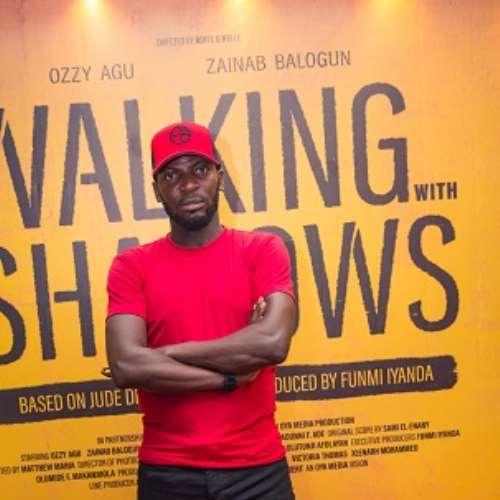 actor john njamah at walking with shadows movie premiere