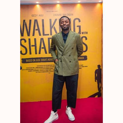actor ozzy agu at walking with shadows movie premiere