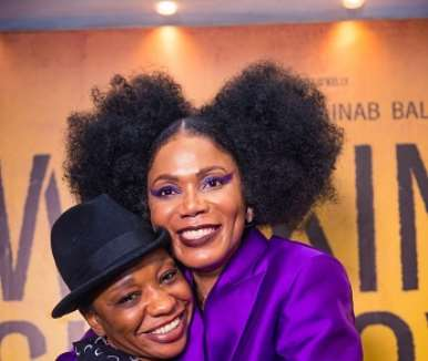 najite dede and funmi iyanda at walking with shadows movie premiere