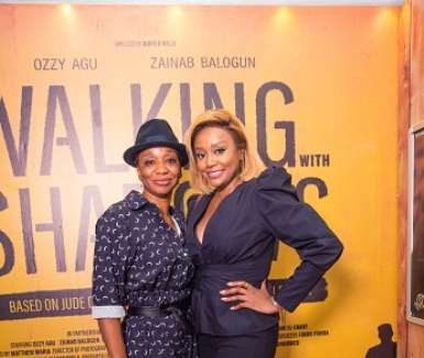 najite dede and michelle dede at walking with shadows movie premiere