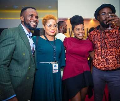 olumide makanjuola tope oshin shade ladipo at walking with shadows movie premiere