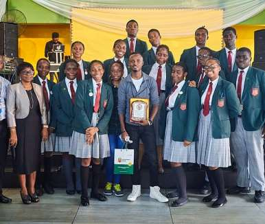 gaise baba with prefects at greenspring schools