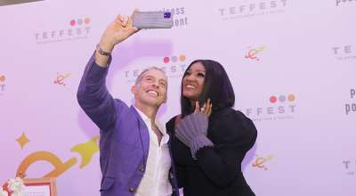 Google's Craig Fenton and host Omotola Jalade-Ekeinde stepped out for TEFFEST 2019