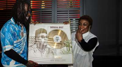 Burna Boy Receives Gold Plaque As 'on The Low' Goes Gold In France